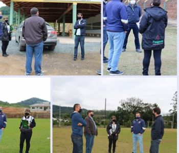 Luiz Alves recebe visita da Fesporte